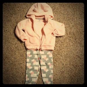 Carter's baby girl 3 piece fleece jacket set